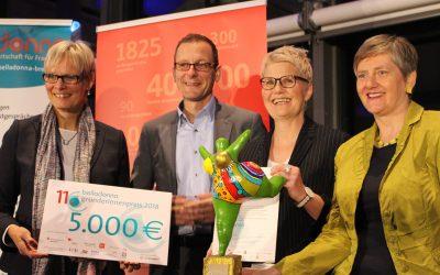 Nicole Schütz gewinnt den 11. belladonna Gründerinnenpreis