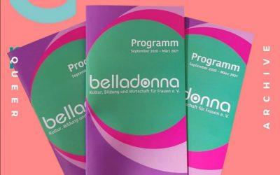 Neues belladonna Programm: September 2020 – März 2021