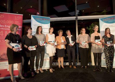 Ehemalige belladonna Gründerinnenpreisträgerinnen bei der 10. Preisverleihung 2016