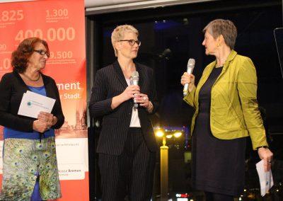 Preisträgerin Nicole Schütz im Gespräch mit Maren Bock und Monica Kotte