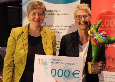Maren Bock und Nicole Schütz, Preisträgerin 2018