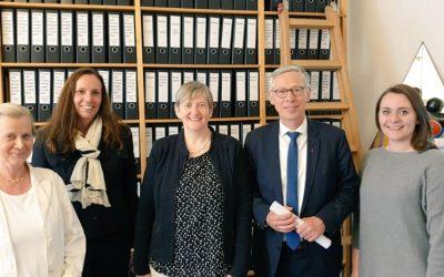 Bürgermeister Carsten Sieling zu Besuch bei belladonna