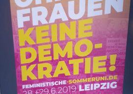 Ohne Frauen keine Demokratie: Feministische Sommeruni 2019